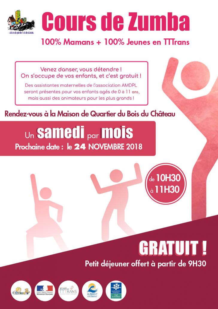 Cours de ZUMBA_Samedi 24 novembre 2018_MQ Bois du Chateau_Lorient