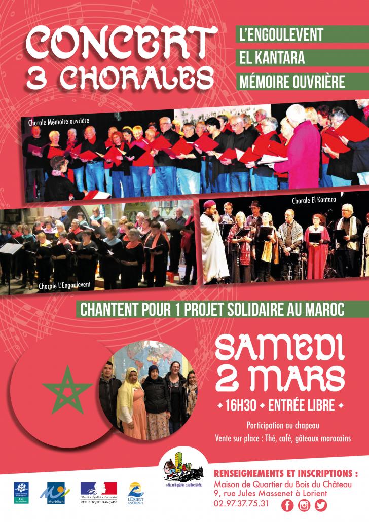 Concert 3 chorales projet Maroc samedi 2 mars 2019_Bois_du_Château