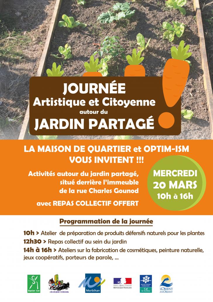 Affiche journée Artistique et Citoyenne Jardin Partagé-Bois_du_Château