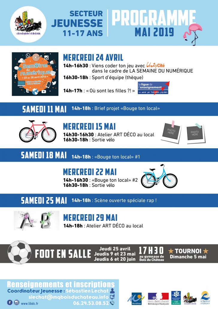 Programme jeunesse MAI 2019-Maison_de_Quartier_Bois_du_Château