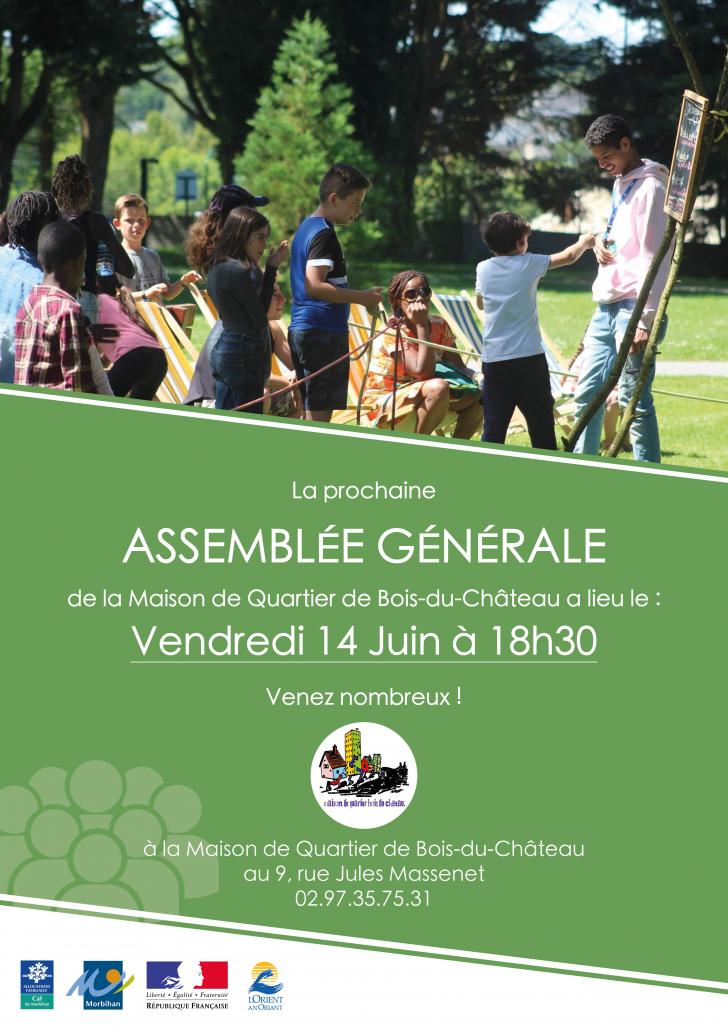 Affiche AG 2019 Maison de Quartier du Bois du Château