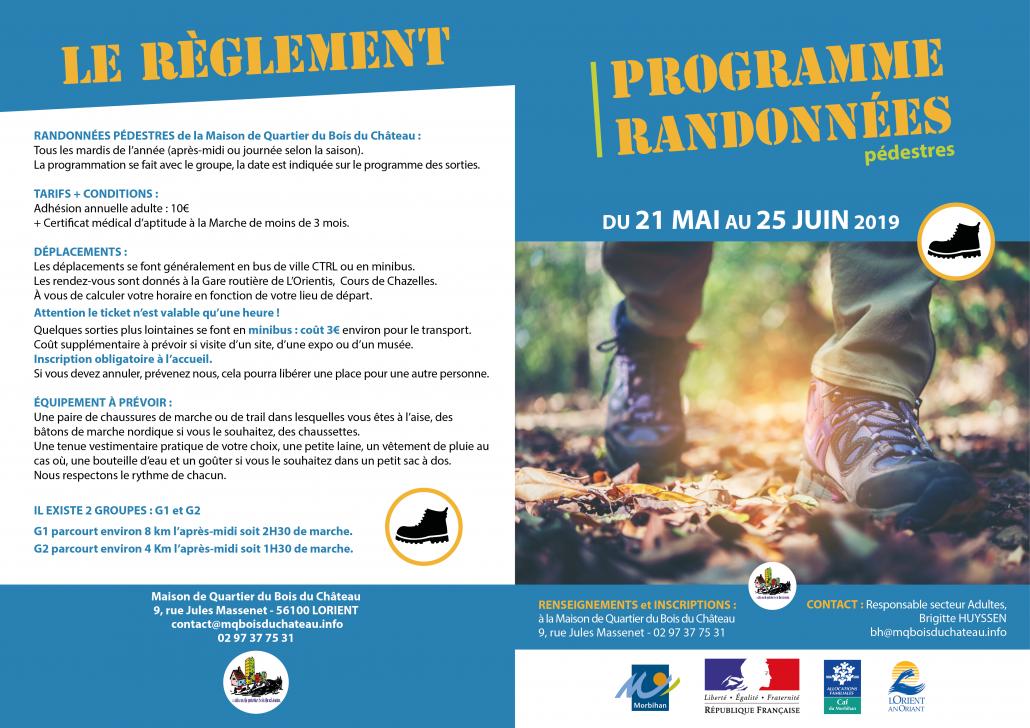 REGLEMENT-RANDONNEES mai juin 2019_Maison_de_Quartier_Bois_du_Château