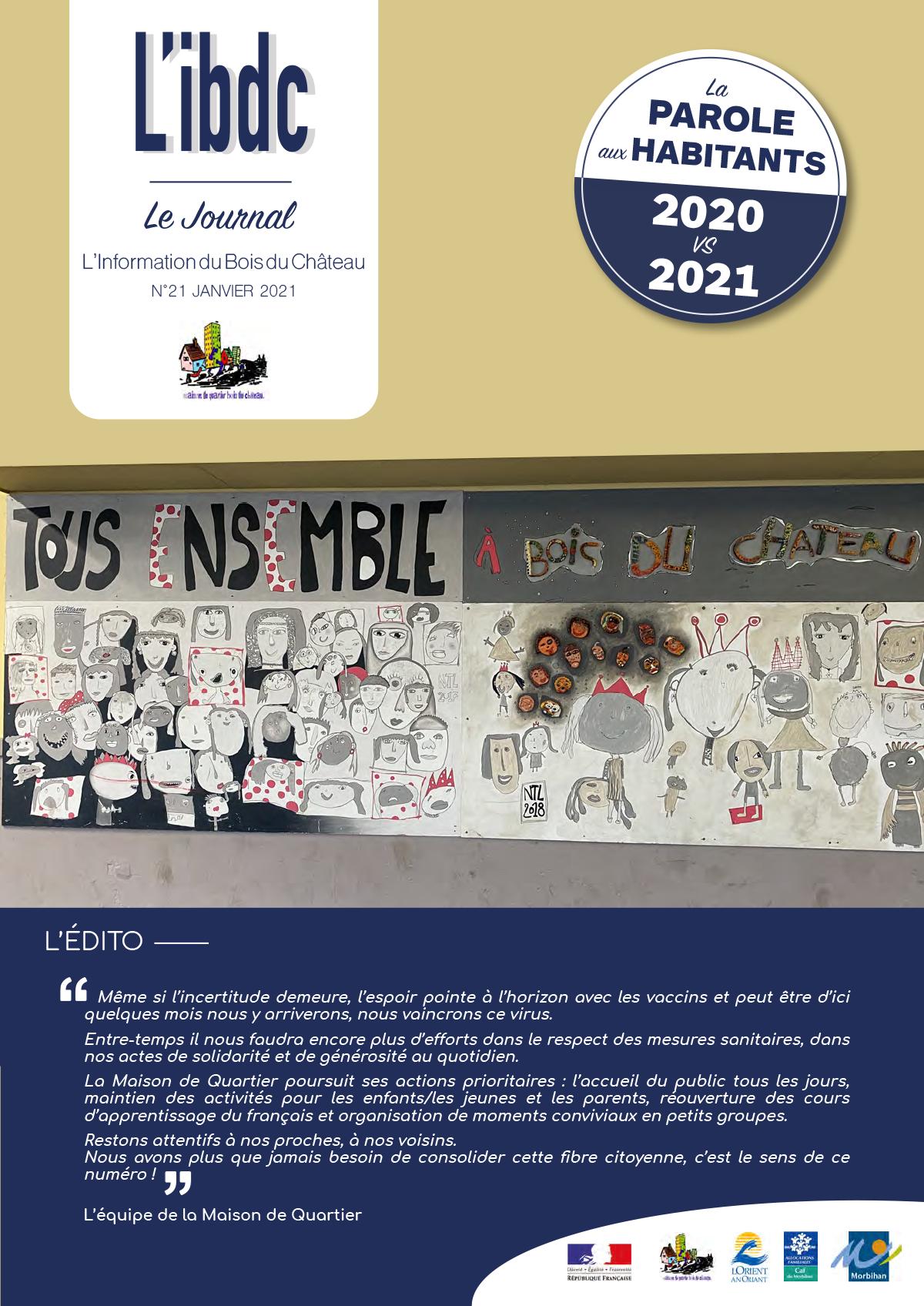 JOURNAL L'IBDC - janvier 2021 - La parole aux habitants !