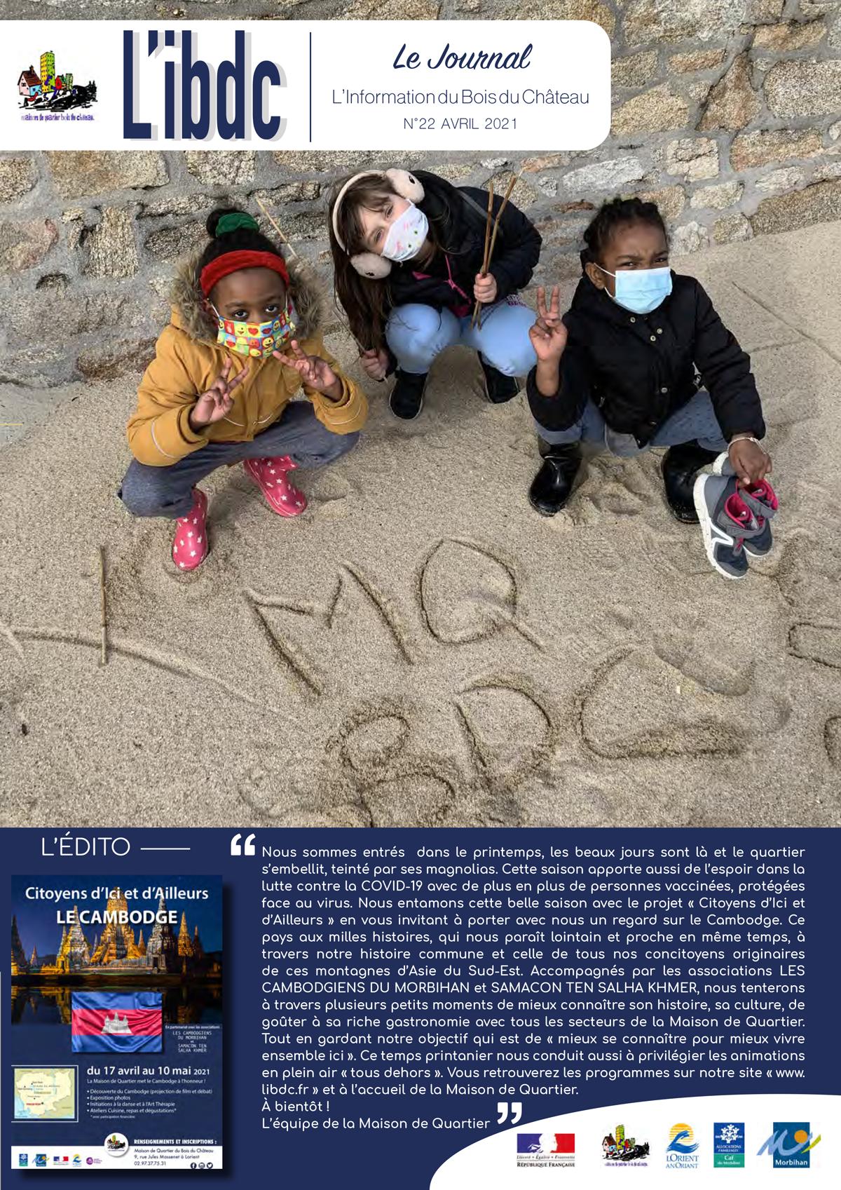 JOURNAL L'IBDC - avril 2021 - L'information de Bois du Château